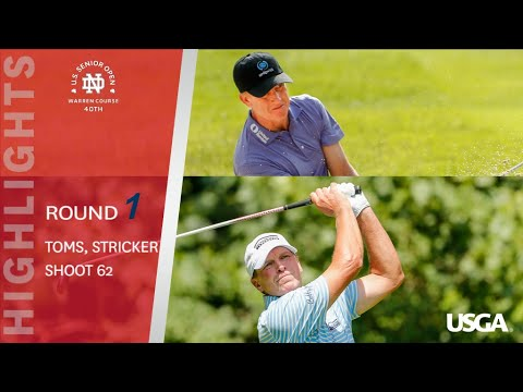 2019 U.S. Senior Open, Round 1: Dueling 62s- Toms, Stricker Match History