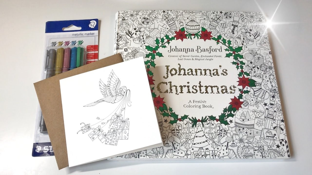 flip through johannas christmas a festive coloring book by johanna basford youtube