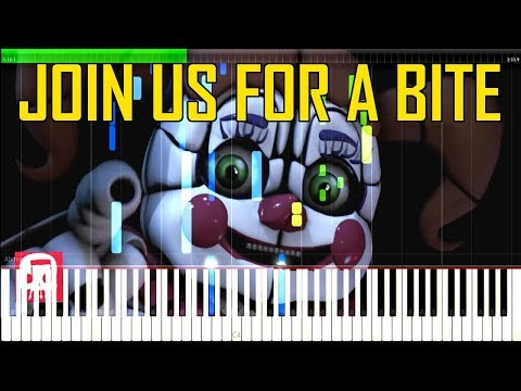 Join Us For A Bite - FNAF Sister Location Song by JT Machinima [Synthesia Piano Tutorial]