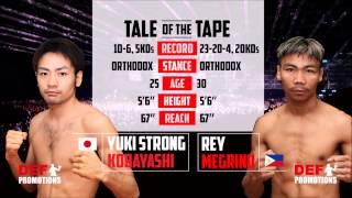 Clash of Champions 2 Bout 4 - Yuki Strong Kobayashi  vs Rey Megrino - Super Bantamweight 超雛量級