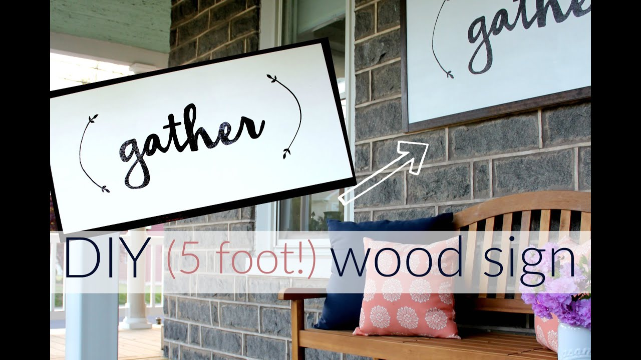 DIY wooden sign tutorial by Christina's Adventures