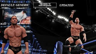 Changing Promo Entrances in Universe Mode feat. The Rock