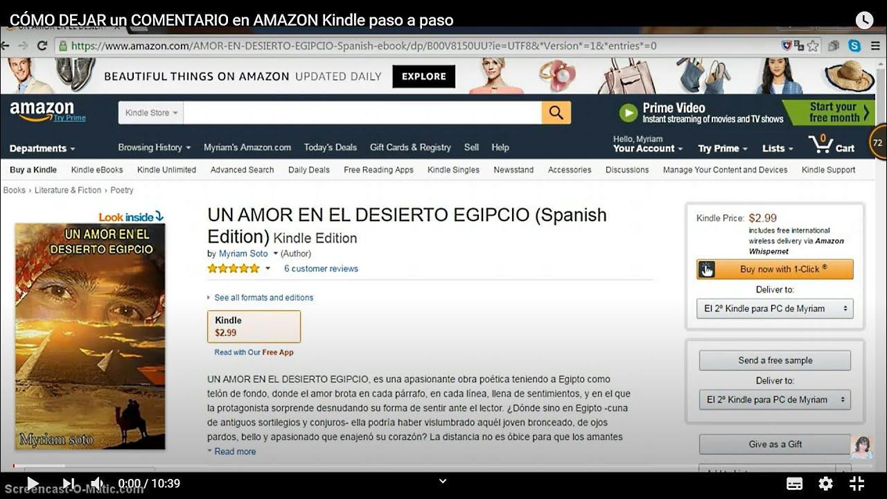 Como dejar un comentario en Amazon Kindle paso a paso - YouTube