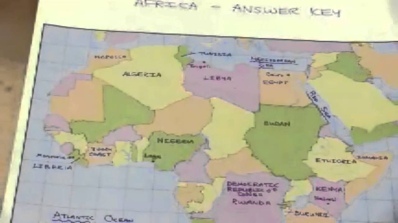 Africa Map Test - YouTube