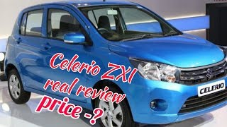 Maruti Suzuki hatchback Celerio ZXI  real review interior and exterior