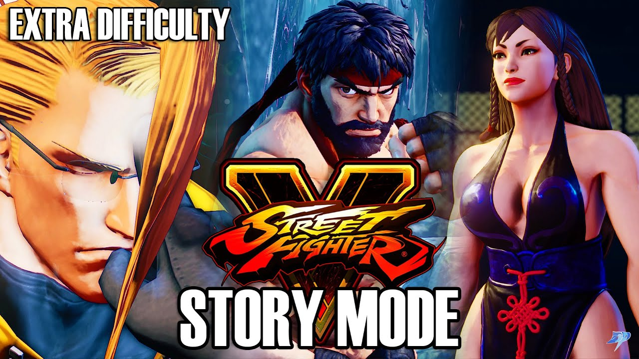 Download Street Fighter 5 | Full Story Mode - Extra Difficulty (No Commentary) | PS4