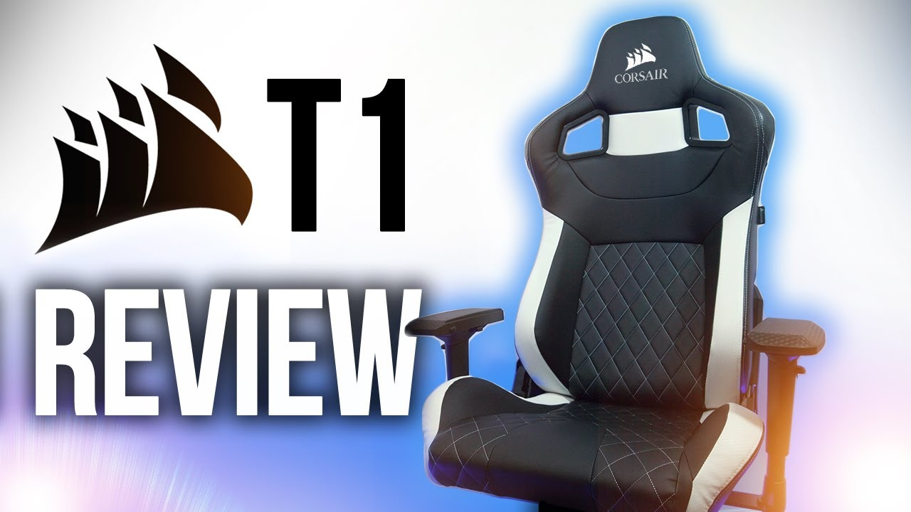 gaming chair review pink child rocking new corsair t1 race youtube