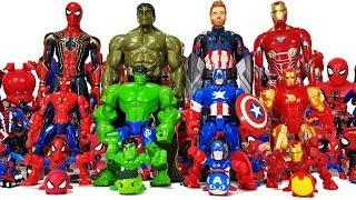 Avengers Transformation! Go~! Spider-Man, Iron Man, Hulk, Thor, Captain America, Thanos Toys!