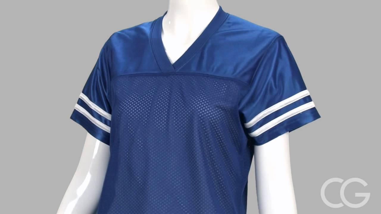 Misses Relaxed Fit Sport-Tek Replica Mesh Football Jersey - Customized Girl 173599e36