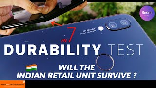 Redmi Note 7 (Pro) Durability Test- Will Indian Retail Unit Fail ? |Bend|Drop|Scratch|Sound Test| thumbnail