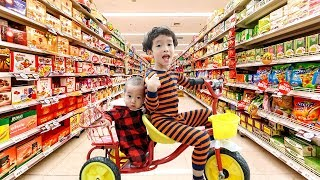 Rua And Voi Shopping at the Supermarket and Play Area Indoor Playground for children