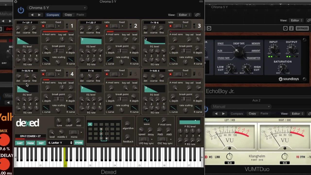DEXED Free FM Plug-in Synth