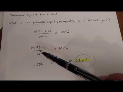 How to find the percentage signal