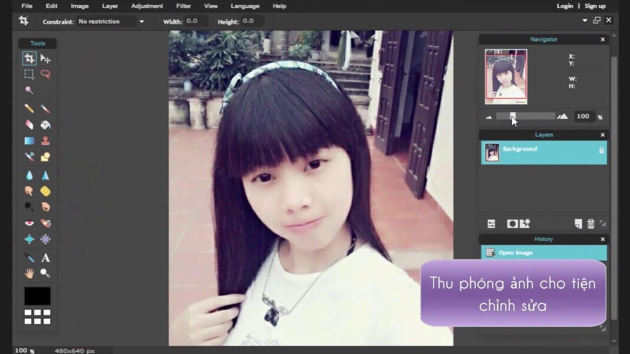 Hướng dẫn cách làm mờ hậu cảnh, xóa phông ảnh nền bằng Photoshop Online