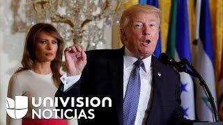 Trump bromeó sobre el acento de algunos puertorriqueños mientras prometía ayuda para la isla