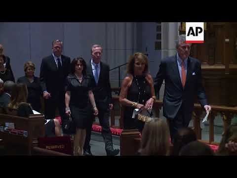 George H.W. Bush arrives for funeral of his wife