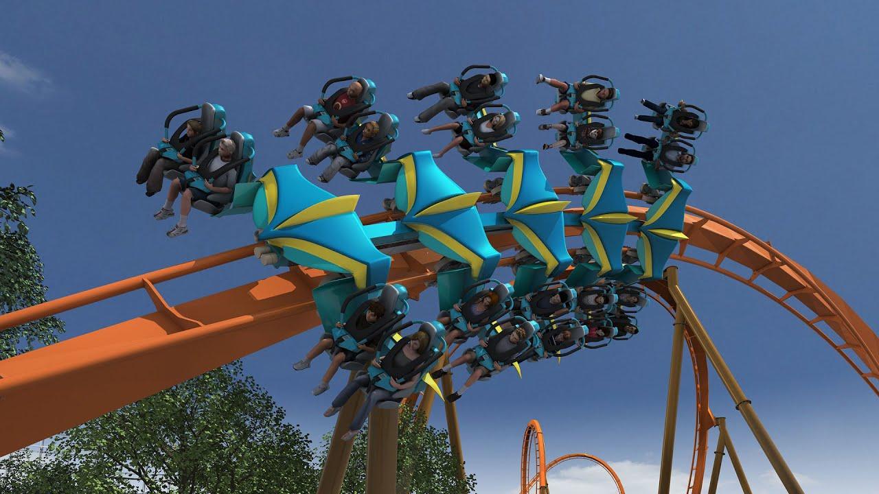 thunderbird roller coaster pov animation holiday world