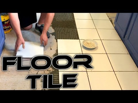 How to Tile a Floor FAST AND EASY!! Learn the Basics! Do it Yourself for Cheap!