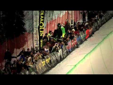 Winter Dew Tour - SNB Pipe Highlights, Snowbasin 2011 - Luke Mitrani, Greg Bretz, Kelly Clark, Steve Fisher