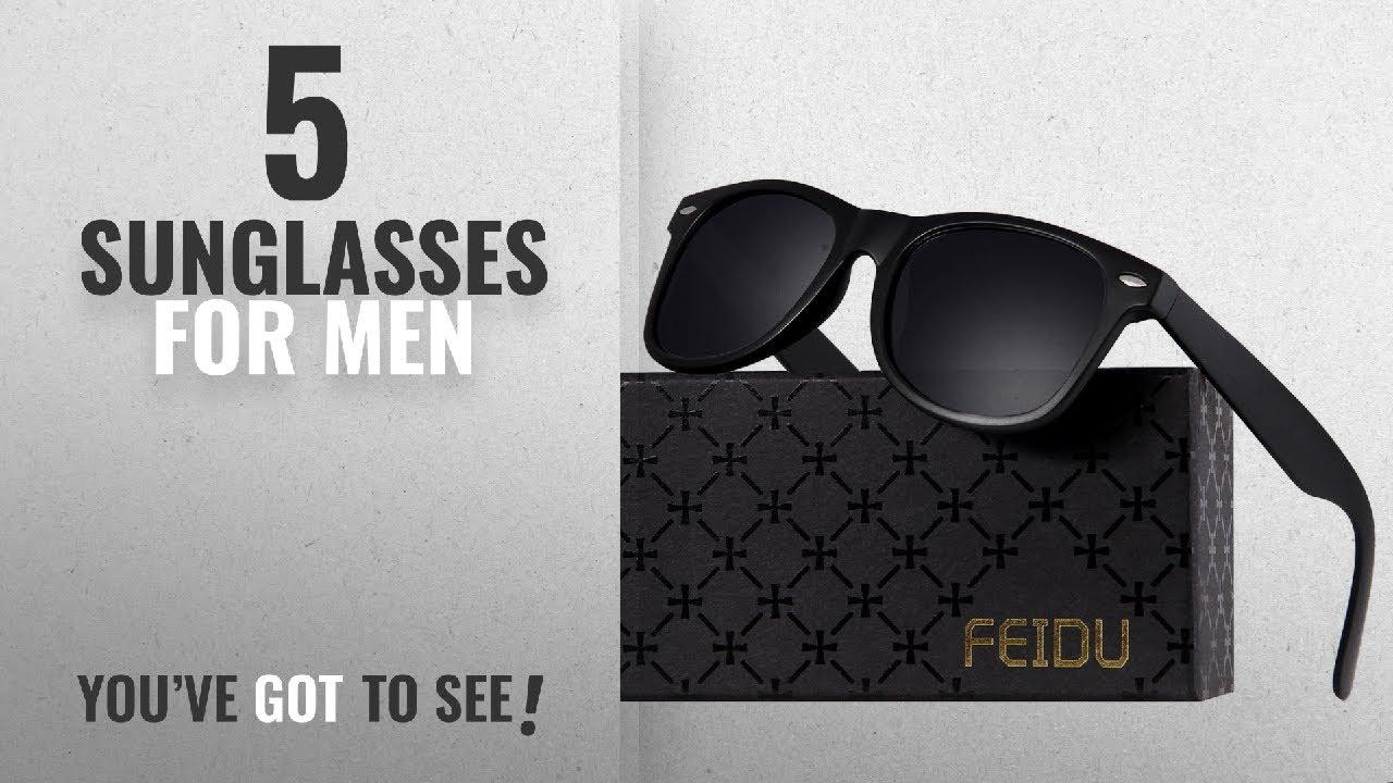 8a5d7deea176 Top 10 Sunglasses For Men [ Winter 2018 ]: FEIDU Classic Men's ...