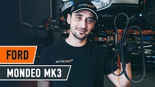 Kā nomainīt rievsiksna FORD MONDEO MK3 Sedan [AUTODOC VIDEOPAMĀCĪBA]
