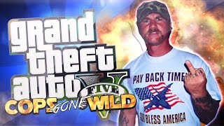 "GTA 5 COPS GONE WILD - DRUNK REDNECK TERRORIST ARRESTED ""GTA 5 TROLLING"""