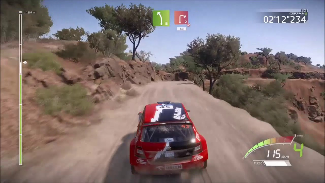 wrc 7 rally mexico skoda fabia r5 gameplay and replay. Black Bedroom Furniture Sets. Home Design Ideas