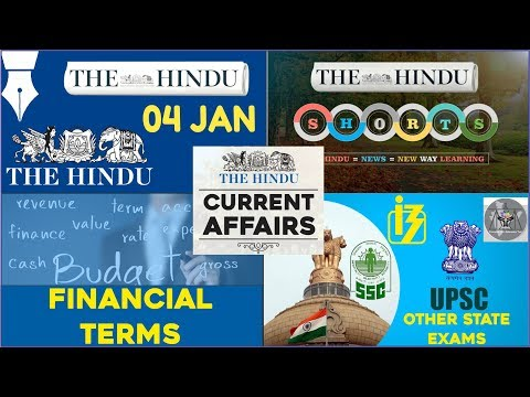 Current Affairs Based on The Hindu for Syndicate Bank PO 2017 (04th January 2017)