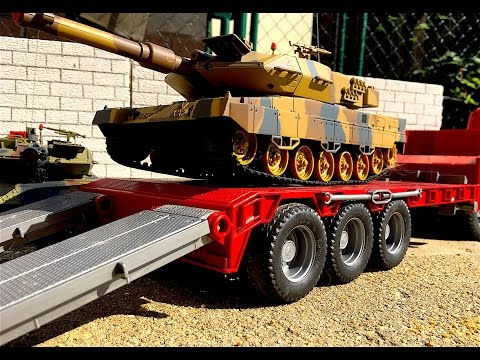 BRUDER Toys truck Scania and war tank Leopard 2A6