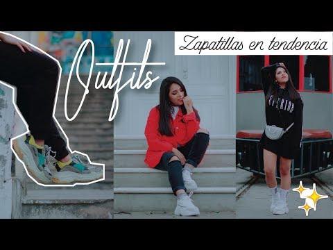 OUTFITS con ZAPATILLAS de moda 😍 #UglySneakers Tenis Casual 2018 Dupe Balenciaga   ♥ Margot Valdez