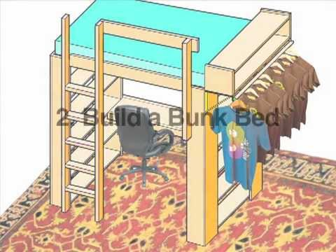 build a loft or bunk bed ochshorn youtube. Black Bedroom Furniture Sets. Home Design Ideas