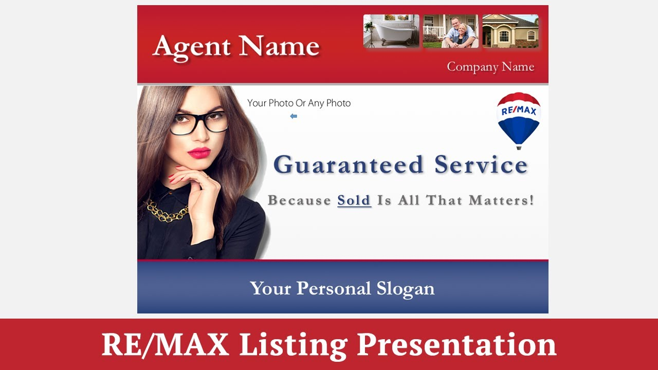 RE/MAX Listing Presentation Template for RE/MAX Agents