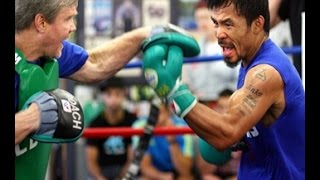 Manny Pacquiao EXPLOSIVE POWER & SPEED Mitt Workout COMPLETE & UNEDITED With Freddie Roach