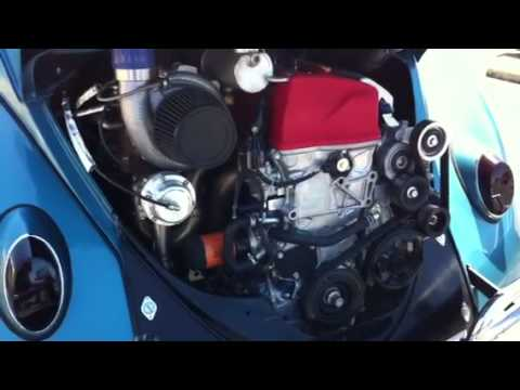 Honda V-tech powered VW bug - YouTube