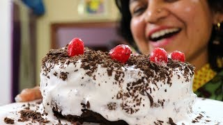 How to do Icing on a Cake  For beginners  Eggless Chocolate cake  बजर जस कक पर icing कर