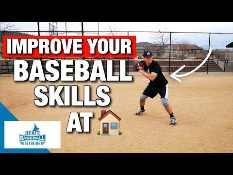 How To: Improve Your Baseball Skills At Home! - (Baseball Drills)