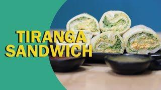 Tiranga Sandwich | Tricolour Sandwich | तिरंगा सैंडविच रोल | Independence Day Special | Food Tak