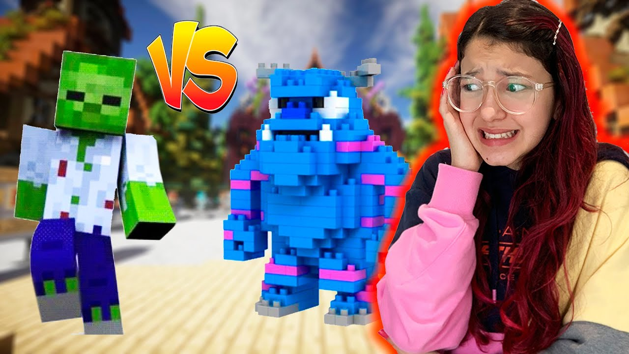 CONSTRUÍMOS UM MONSTRO NO MINECRAFT (BUILD BATTLE) | Luluca