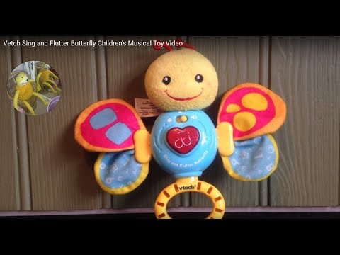 Vetch Sing and Flutter Butterfly Children's Musical Toy Video