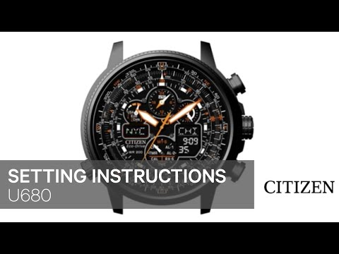 CITIZEN H610 Setting Instruction