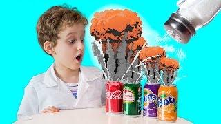 PAULINHO CIENTISTA Coloca SAL na Coca Cola - Experiência para Crianças (T01E02)
