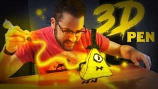 Drawing BILL CIPHER in  3D! [ Dikale 3D Pen ]