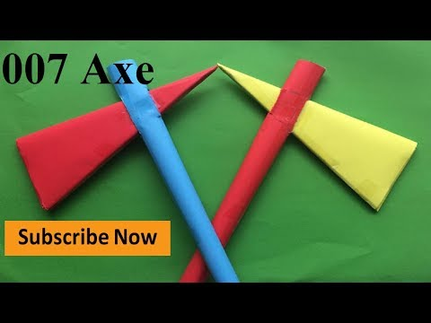 How To Make a Paper Axe | Origami Strong Paper Axe