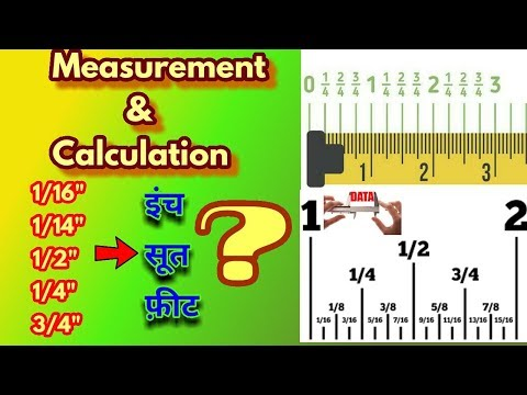 "How to Measure and Convert .25"", .5"", .75"" into Soot or Sutr 