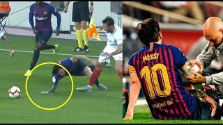 Lionel Messi ● Horrible Injuries, Tackles & Brawls | HD