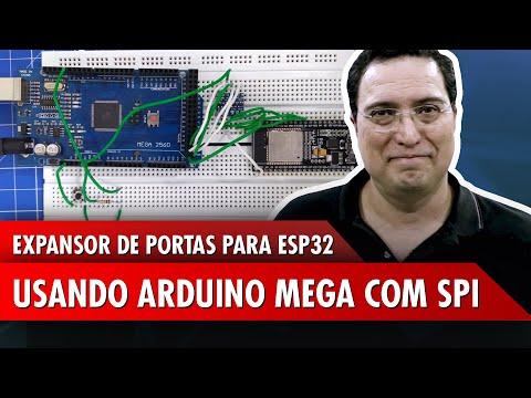 Expansor de portas para ESP32 usando Arduino Mega com SPI