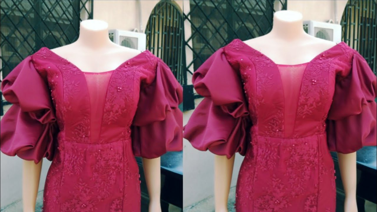 Download Trendy double layer puff sleeves without elastic or band (part 3)