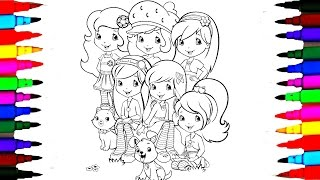 Strawberry Shortcake Berry Best Friends Forever Drawing Pages l How To - Coloring Pages for Kids