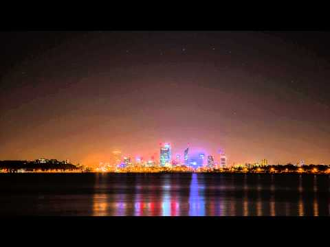 Perth Skyline Timelapse Night