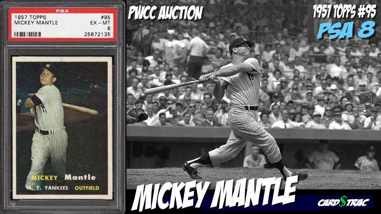 1957 Mickey Mantle Topps 95 Card For Sale Graded PSA 7 Topps95